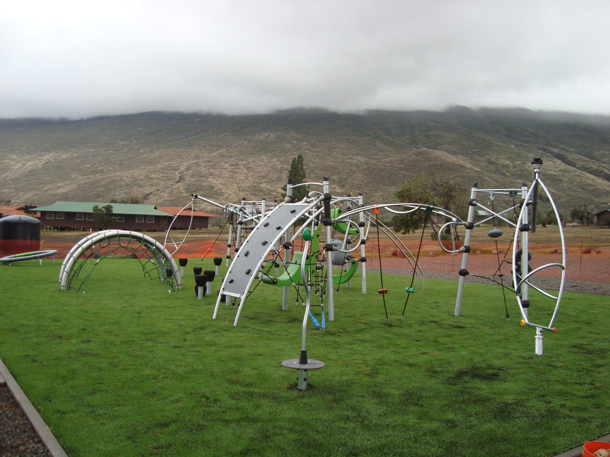 The new playground at the Hawaii County-managed Mauna Kea Recreation Area, photo courtesy Hawaii Co. Parks & Rec