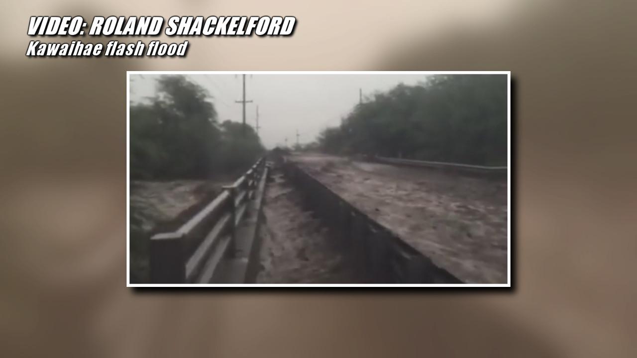VIDEO: Flash Flooding Near Kawaihae Filmed