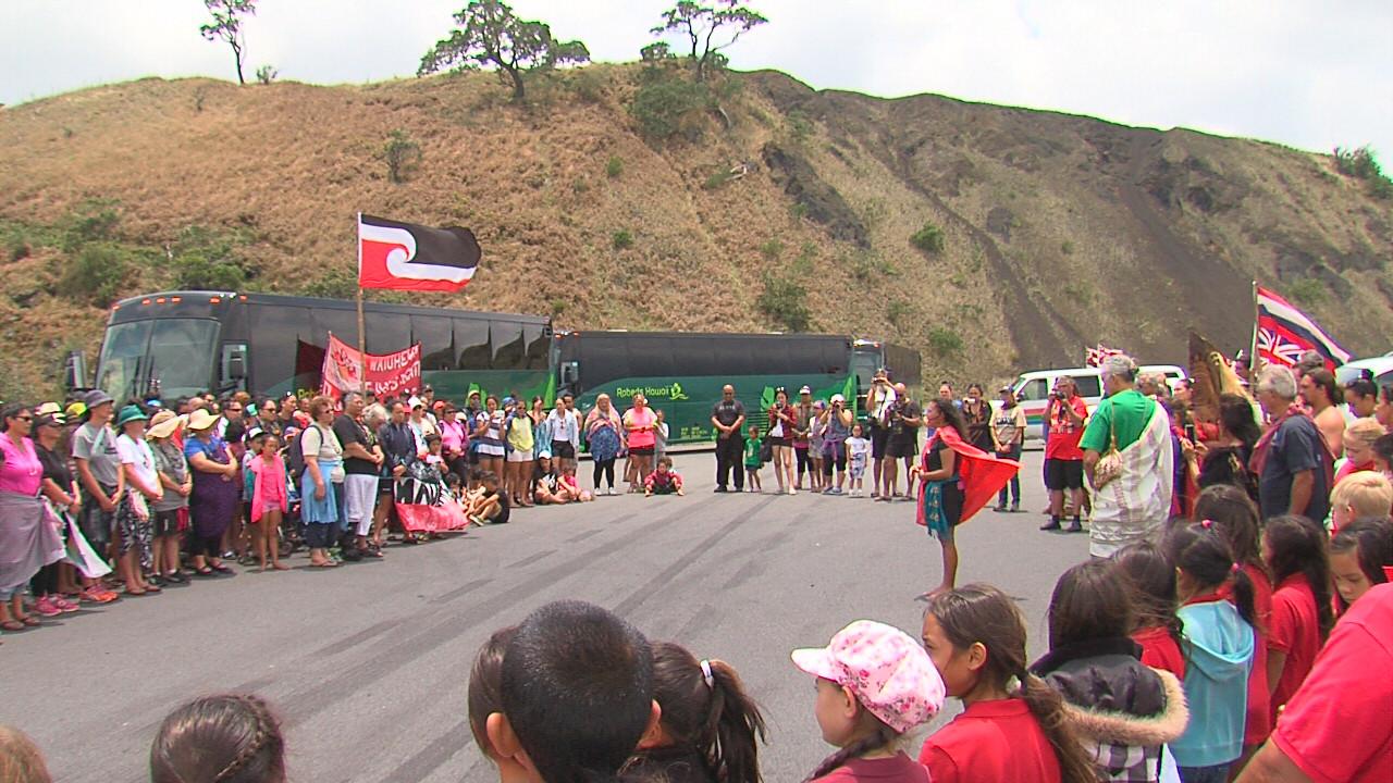 VIDEO: Maori Visitors Welcomed To Mauna Kea