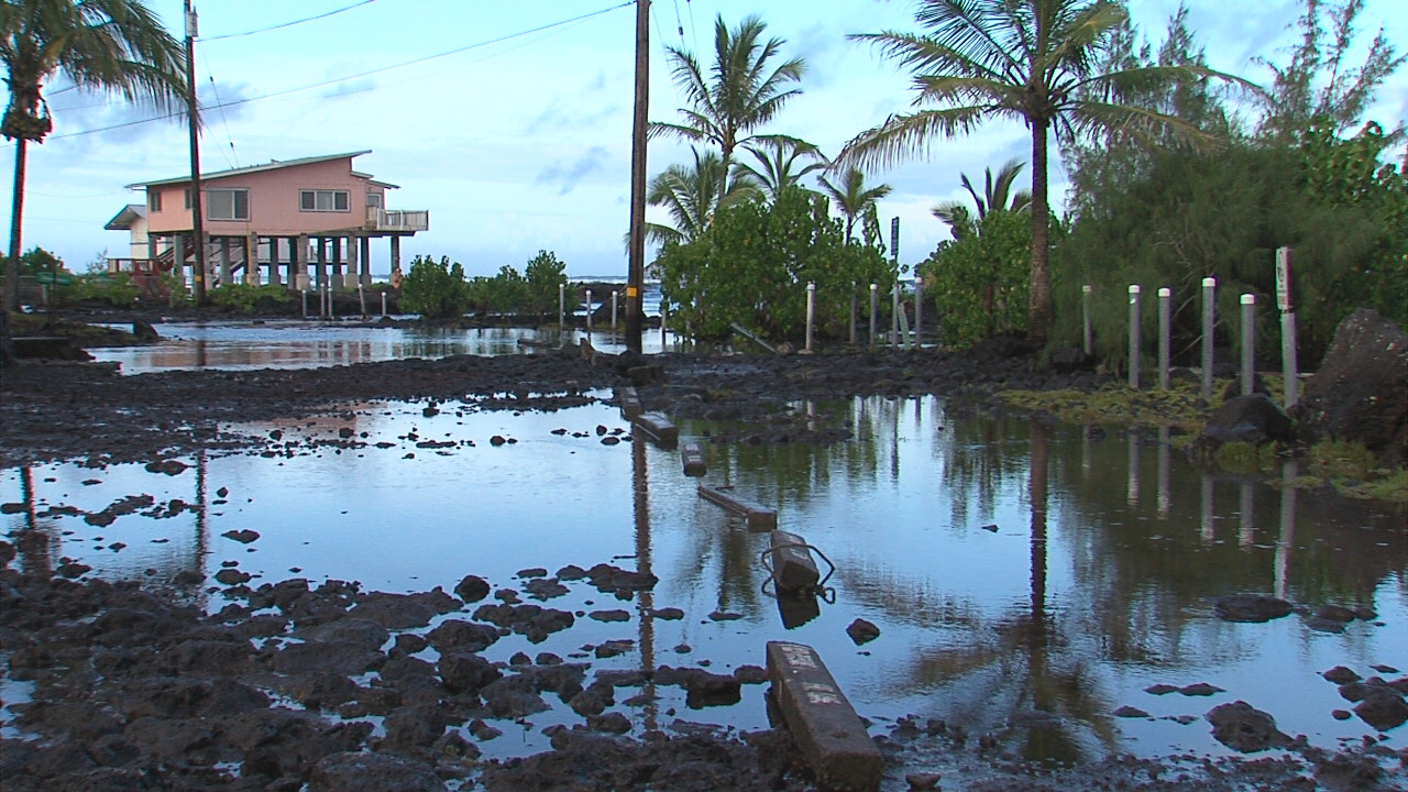 VIDEO: Igancio Effects Seen In Puna Surf and Surge