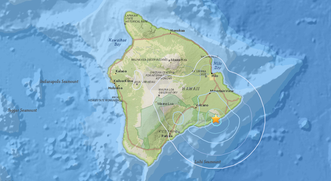 3.7 Earthquake Shakes Puna