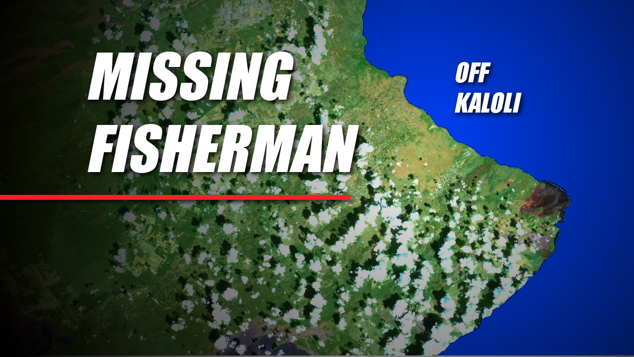 Fisherman Swept Out To Sea Off Puna