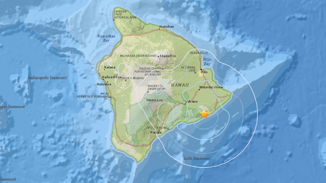 3.9 Earthquake Felt Across East Hawaii