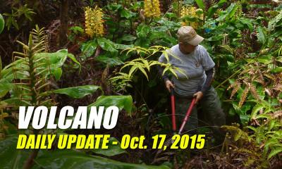 Volcano Update – October 17, 2015