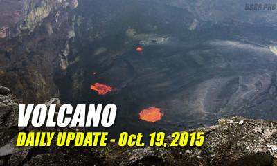 Volcano Update – October 19, 2015