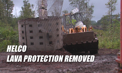VIDEO: HELCO Removing Lava Protection From Poles