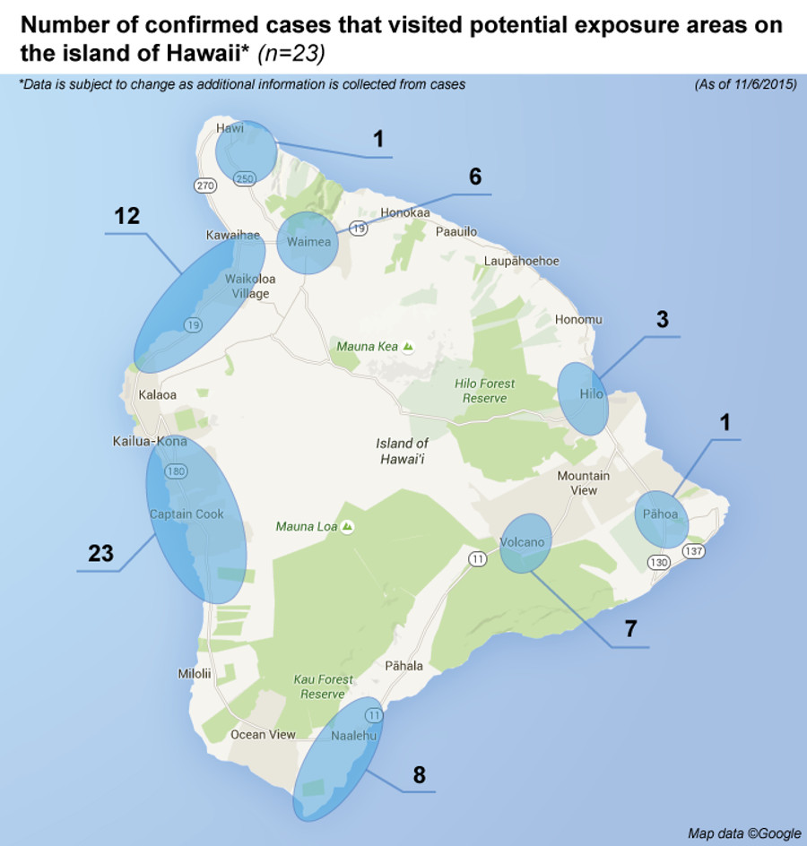 New Map Shows Hawaii Island Wide Dengue Fever Cases