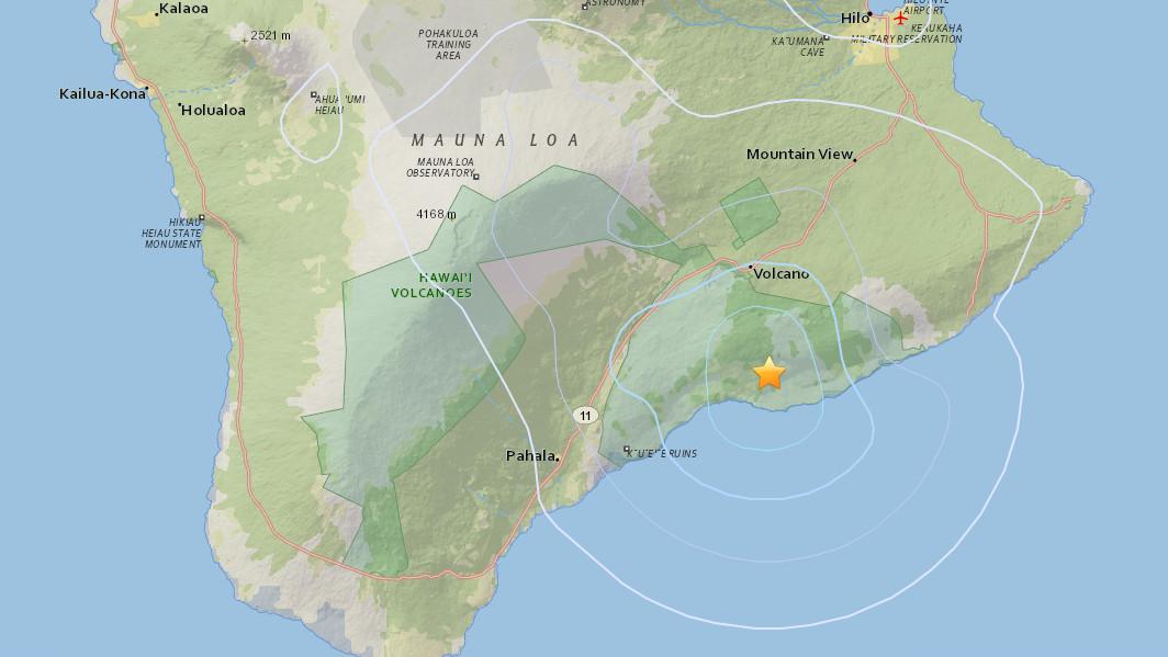 3.5 Earthquake In Hawaii Volcanoes National Park