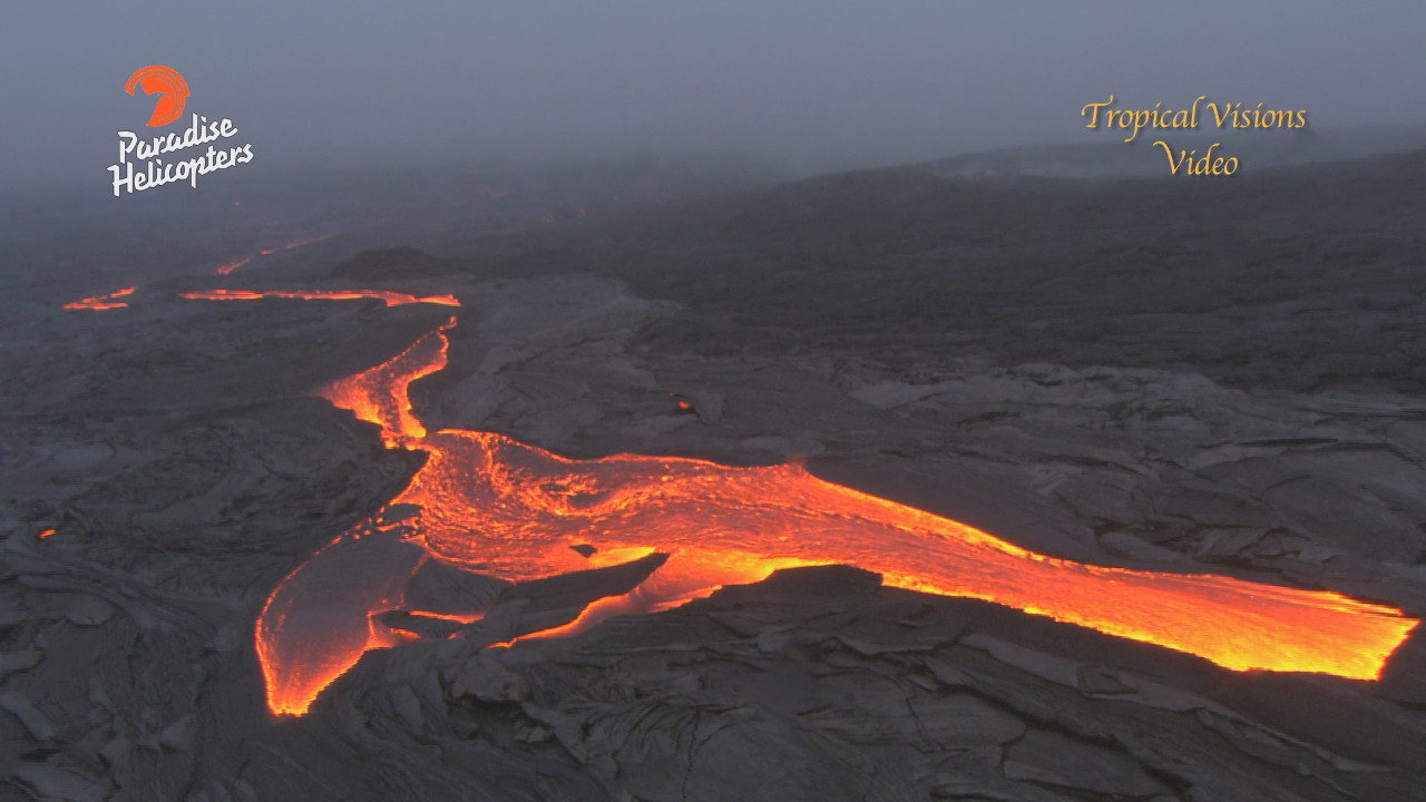 VIDEO: Big Lava Breakout Filmed From Helicopter