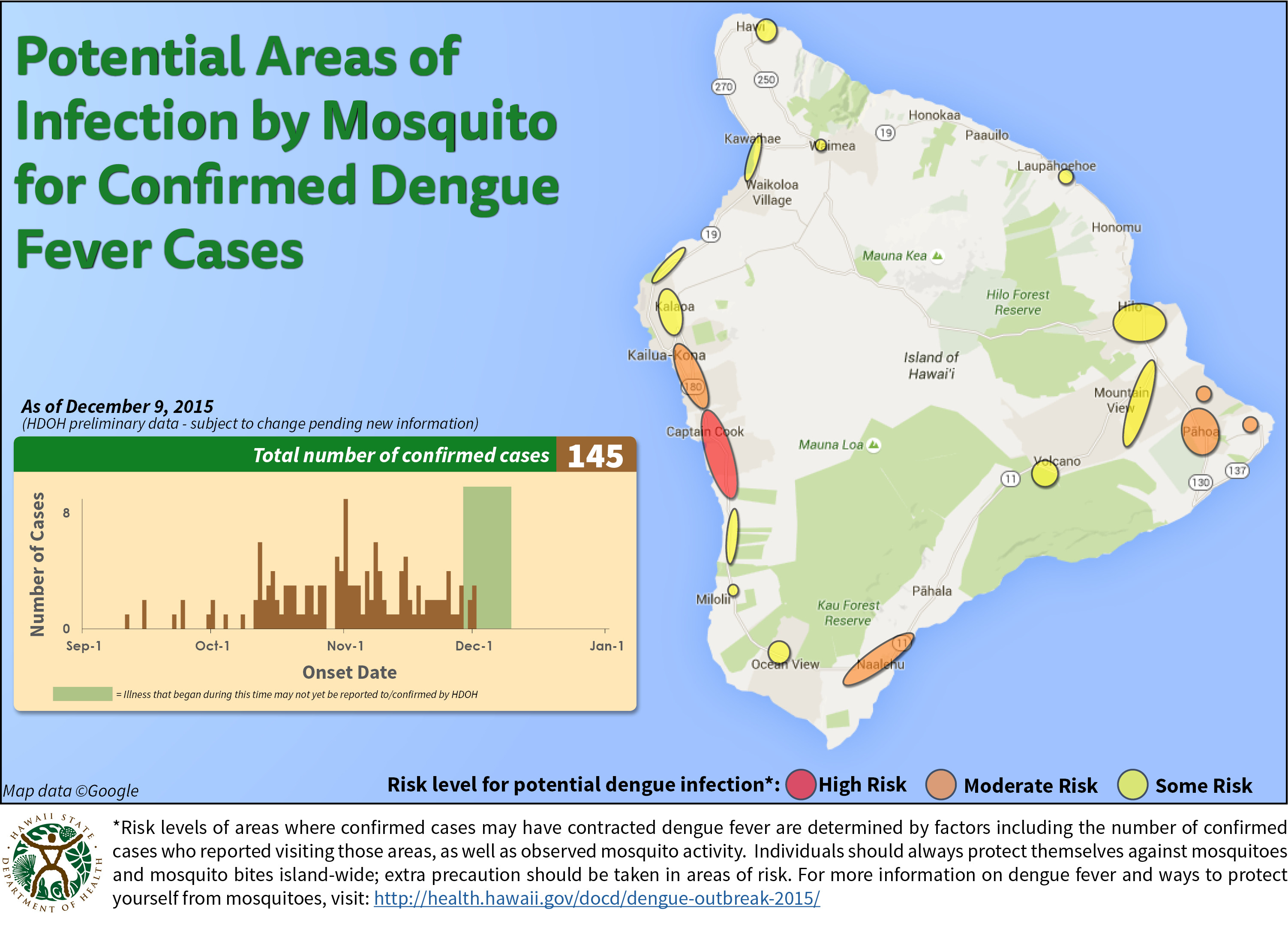 Dengue Fever Case Count Up To 145 New Map Shows Risk Changes