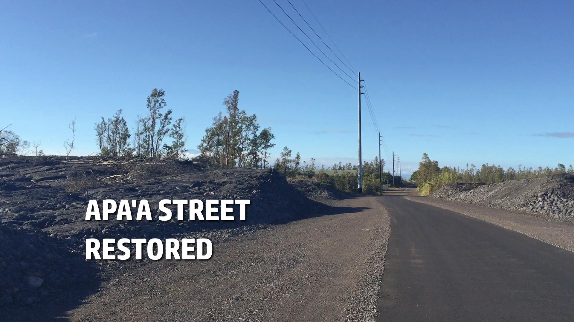VIDEO: Pahoa's Apaa Street Restored Following 2014 Lava Flow
