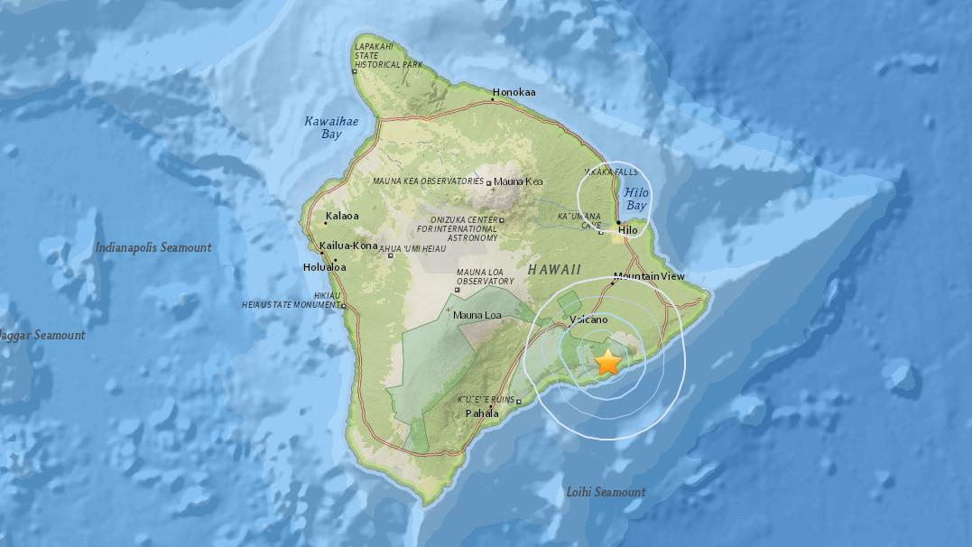 3.9 Earthquake Felt on Hawaii Island