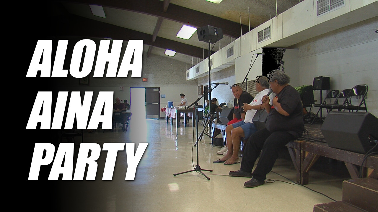 VIDEO: Aloha Aina Party Holds Petition Drive In Hilo