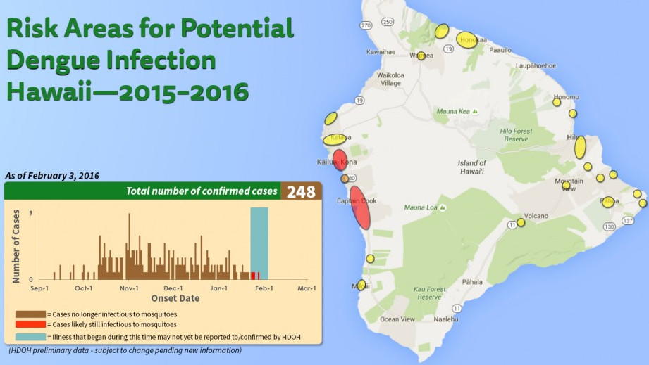 New Dengue Fever Map Shows Small Risk Change In Kona