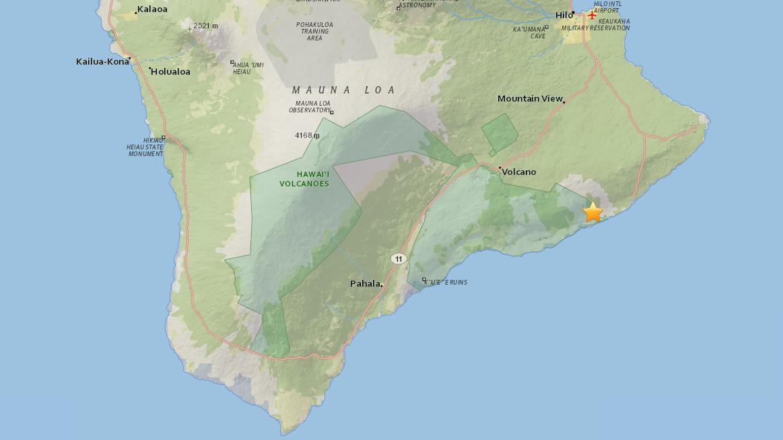 4.1 Earthquake Shakes Hawaii Island