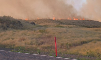 VIDEO: Kohala Brush Fires Close Highways