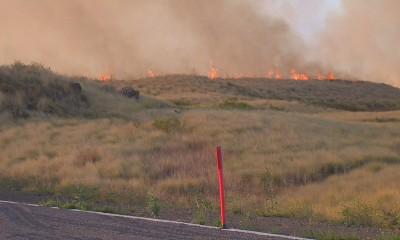 VIDEO: Kohala Brush Fires Close Highways