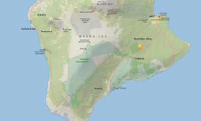 3.2 Earthquake Felt On Hawaii Island