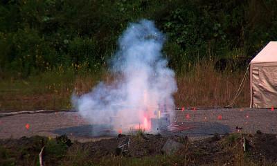 VIDEO: Rocket Engine Firing Test Blasts Keaau Lunar Landing Pad