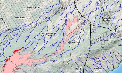 Lava Update: June 27 Flow Map Shows Slow Advance
