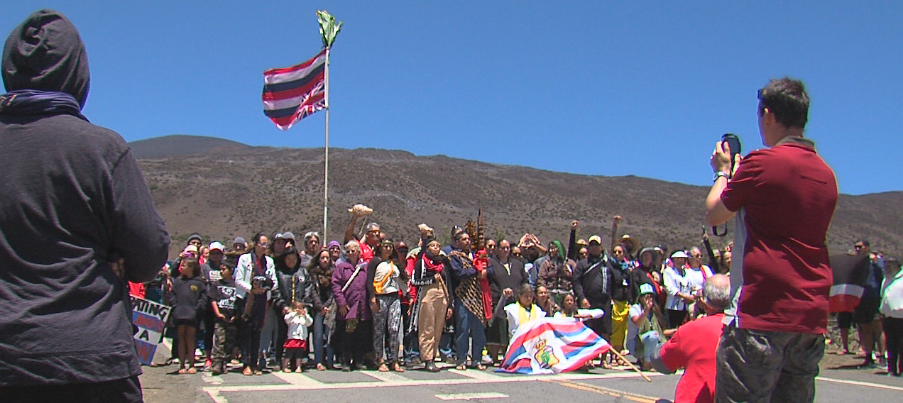 "VIDEO: ""We Are Still Here"" Proclaims Crowd On Mauna Kea"