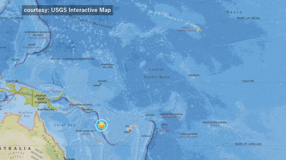 7.3 Earthquake Near Vanuatu, No Tsunami Threat To Hawaii