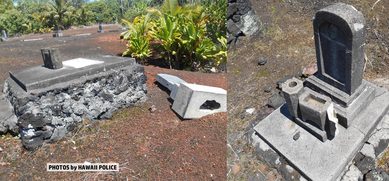 Cemetery Vandalized In Kapoho