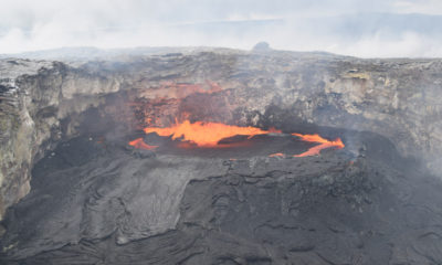 New Lava Flows Breakout On Puu Oo