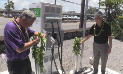 VIDEO: HELCO Opens Two EV Fast Chargers On Big Island