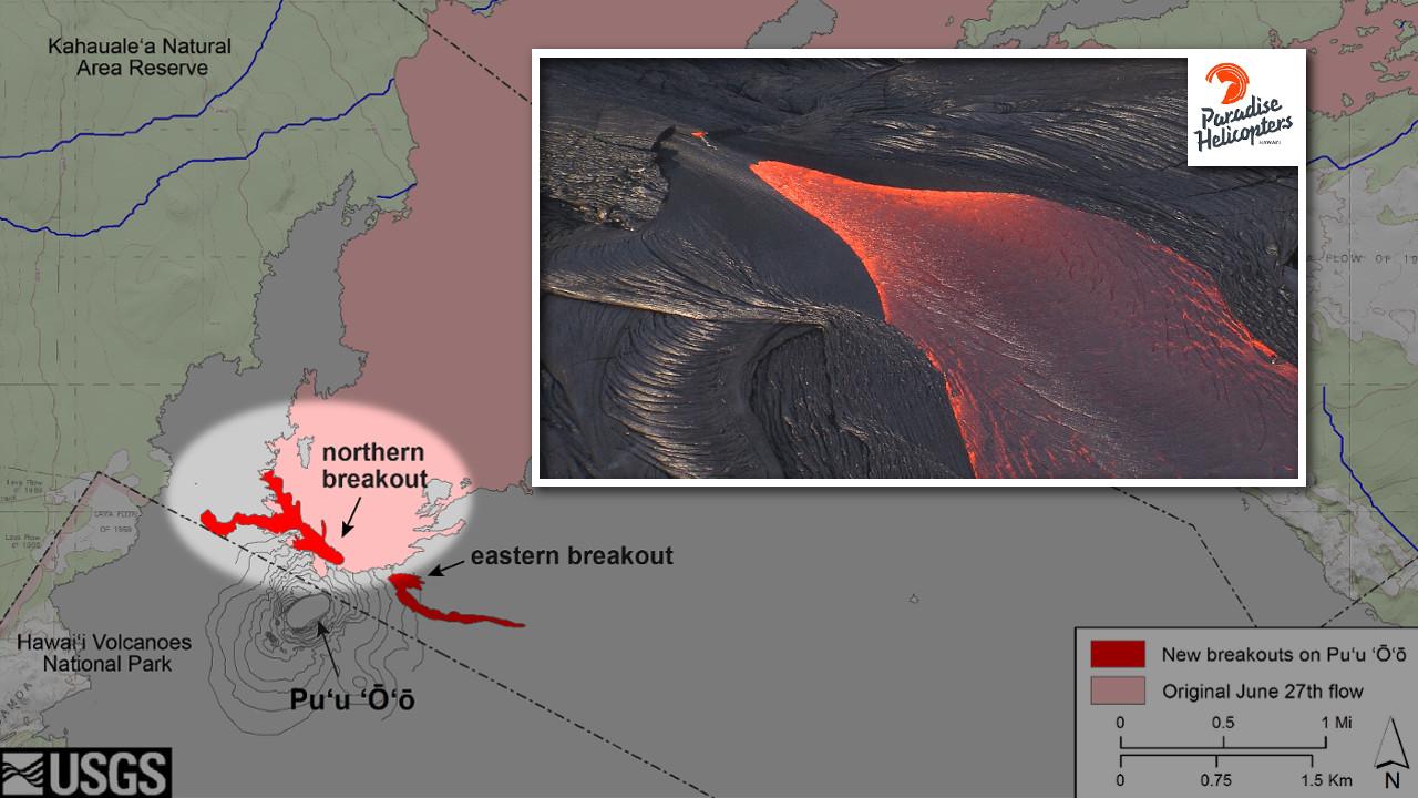 VIDEO: New Lava Flows Captured On Overflight Video