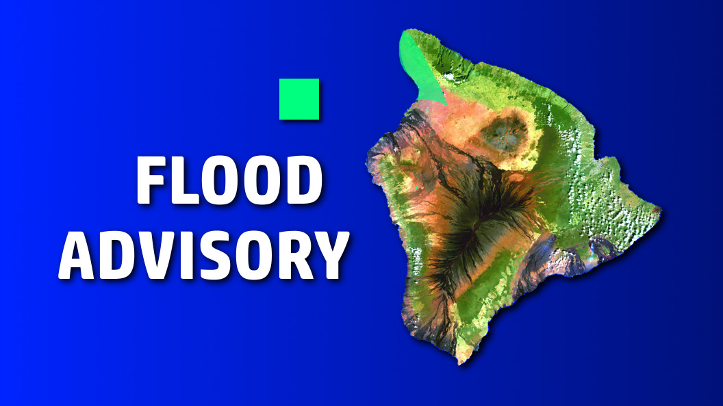 Hawaii Island Flood Advisory For Leeward Kohala
