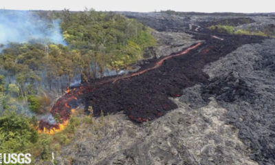 VIDEO: Lava Update – Flow Front Moving Swiftly Down Pali