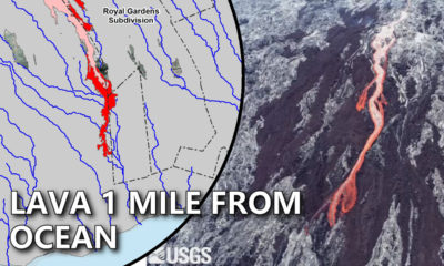 Lava Update: Flow Nearly 1 Mile From The Ocean