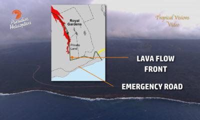 VIDEO: Lava Nears Half Mile To Road, Ocean