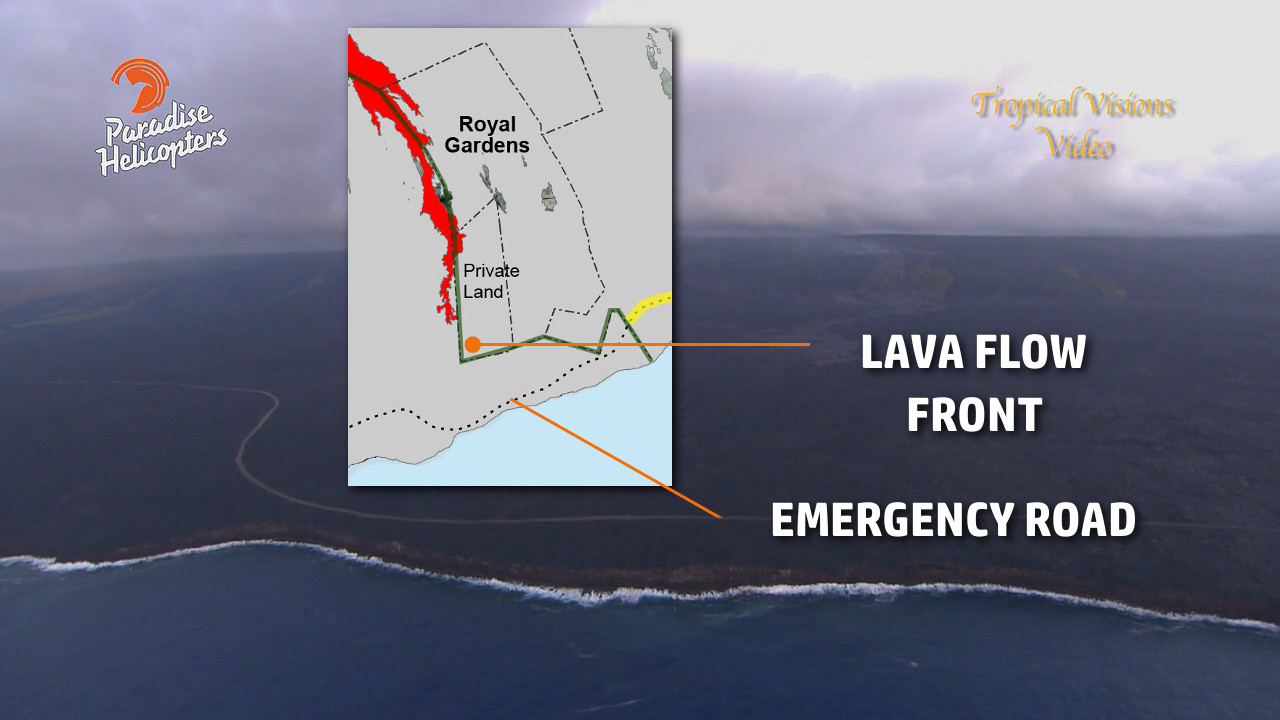 VIDEO: Lava Nears Half Mile To Road, Ocean