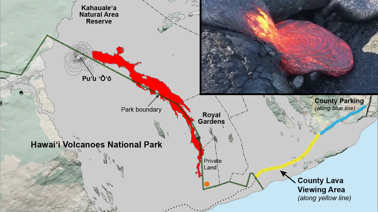 VIDEO: Lava Update – Lava Flow Continues Slow Advance