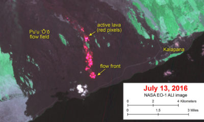 Lava Update – Flow Half Mile From Ocean, Satellite Shows