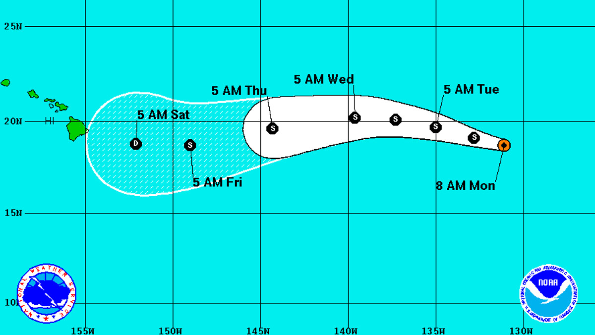 Tropical storm Darby is downgraded; more rain for Hawaii