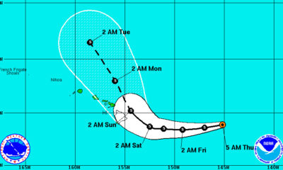 Tropical Storm Darby Maintains Strength, Heads Towards Hawaii