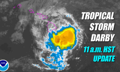 Tropical Storm Darby Hits Hawaii With Rain, Wind