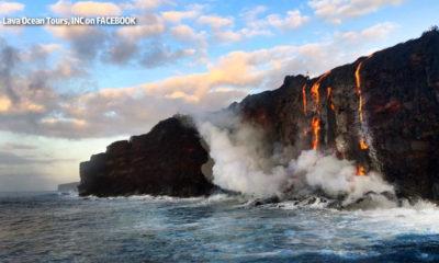 Lava Flow Enters The Ocean Once Again