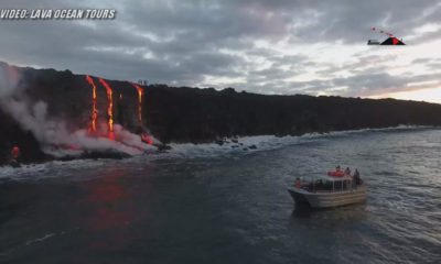 VIDEO: Hawaii Lava Entry Captured By Land, Sea and Air