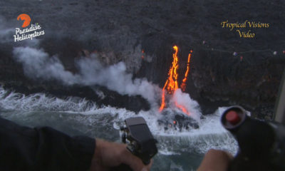 VIDEO: Lava Update – Flying Over Kamokuna Ocean Entry