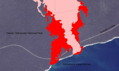 Scientists Map Kamokuna Lava Ocean Entry