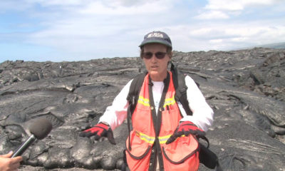 Scientist-In-Charge On The Lava Flow Field