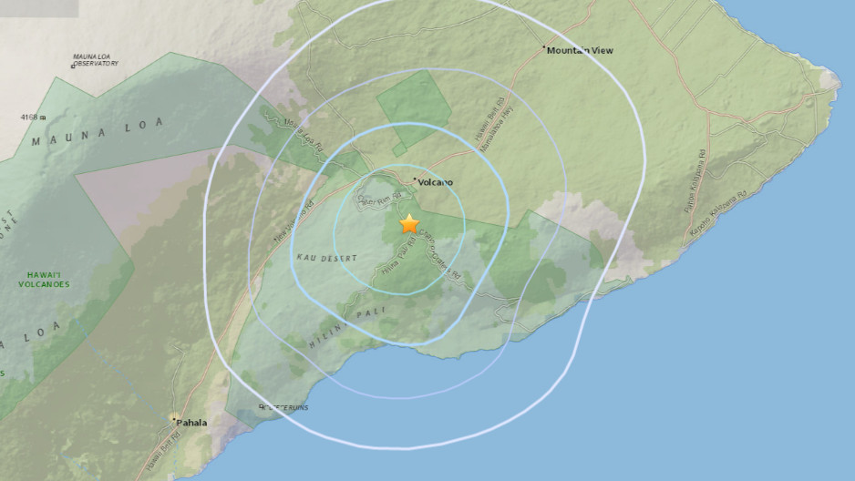 Magnitude 3.8 Earthquake Occurs Near Volcano