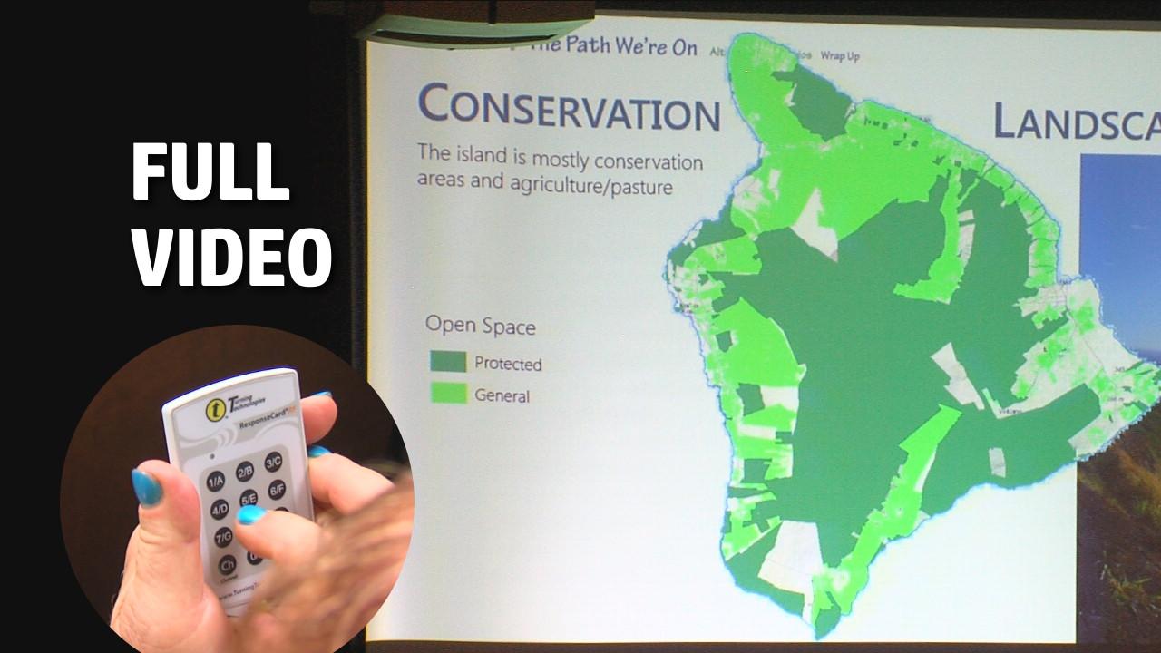 VIDEO: Hawaii County General Plan Meeting Held In Hilo