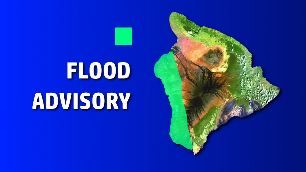 Flood Advisory In Effect For Kona