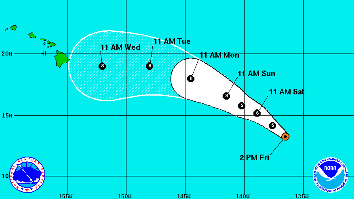 Hawaii Weather Outlook: Two Storms Brew In The Pacific