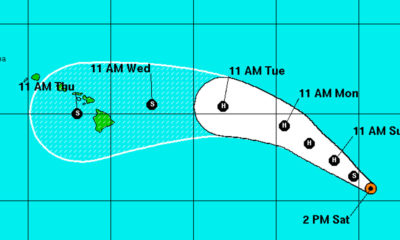 Tropical Storm Madeline Continues Track Toward Hawaii